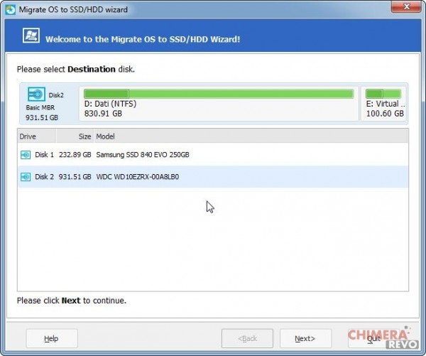 Migrate OS to SSD_HDD wizard