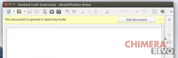 Infobar per sola lettura in LibreOffice