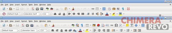 Toolbar LibreOffice Writer