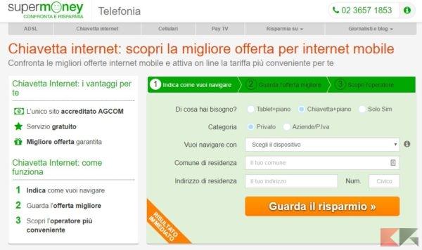 migliore offerta chiavetta internet