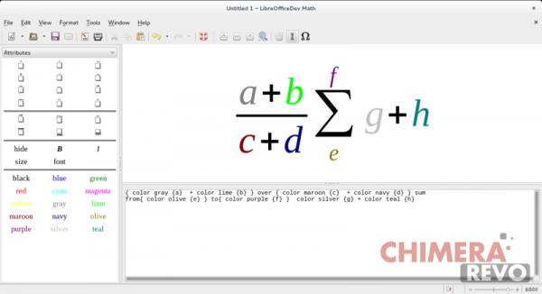 Nuovi colori in LibreOffice Math