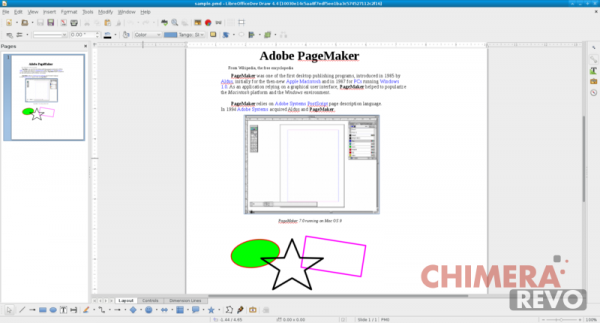 File pagemaker in LibreOffice