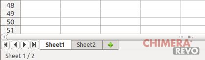 Schede dei fogli in LibreOffice Calc