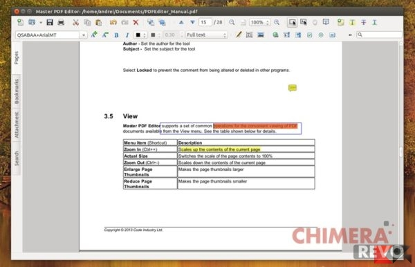 modificare PDF su Linux - Master PDF Editor