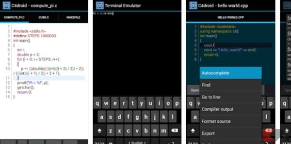 C4droid - C_C++ compiler & IDE - App Android su Google Play