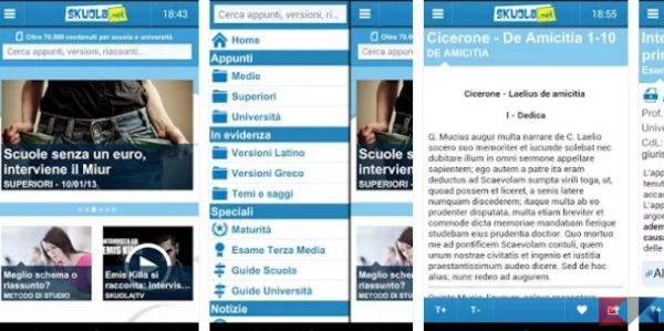 Skuola.net Appunti - App Android su Google Play
