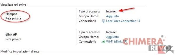 creare un hotspot wireless