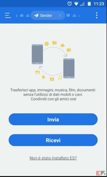 sender-schermata