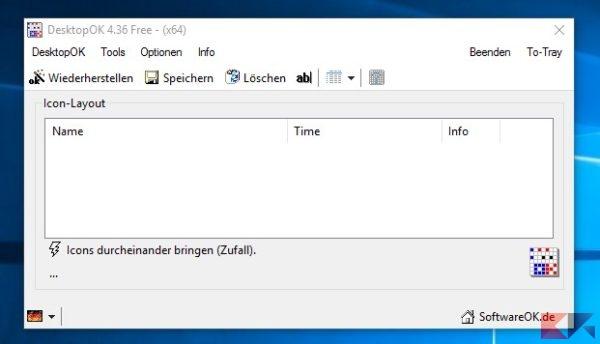 ripristinare le icone del desktop