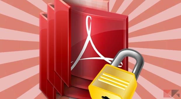 rimuovere password PDF protetti