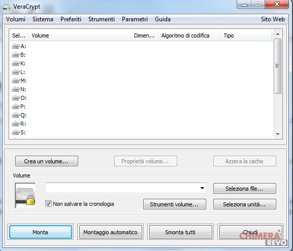 Crittografare dischi e file