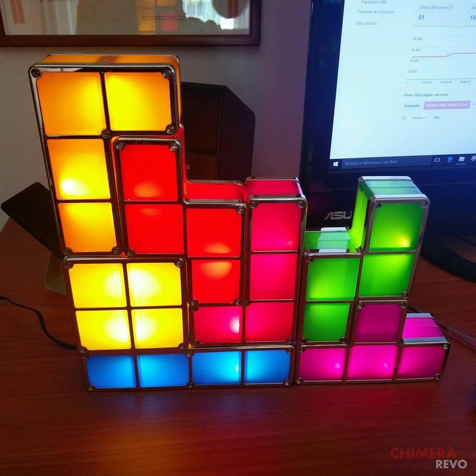 Lampada tetris il regalo che tutti i geek vorrebbero for Costo lampada