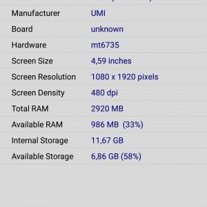 UMI Iron screen CPU Z 2