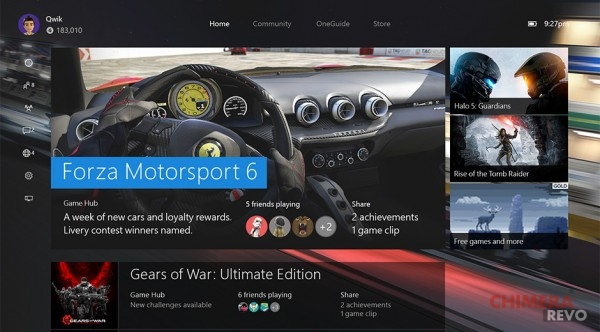 Windows 10 su Xbox One