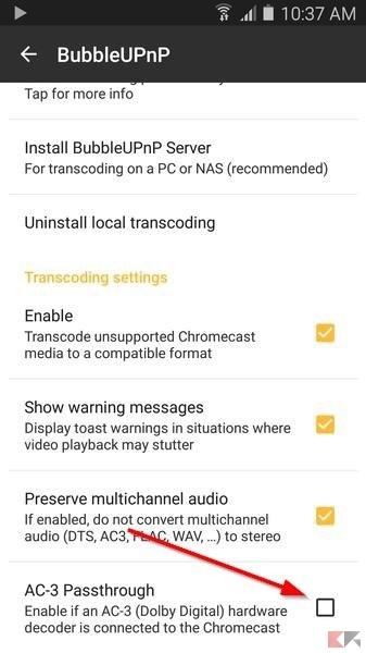 AC3 su Chromecast