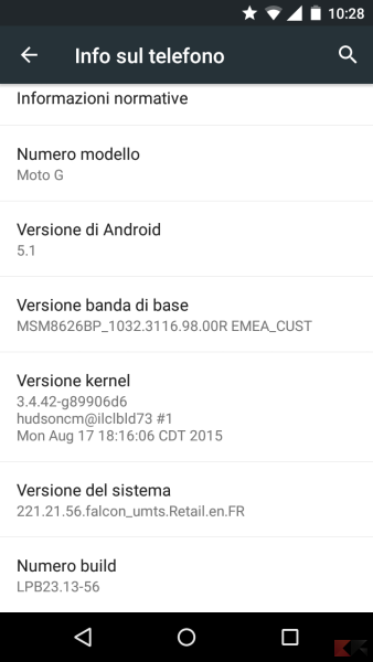 Android 5.1 Moto G 2013