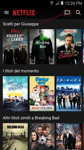 Chomecast e Netflix