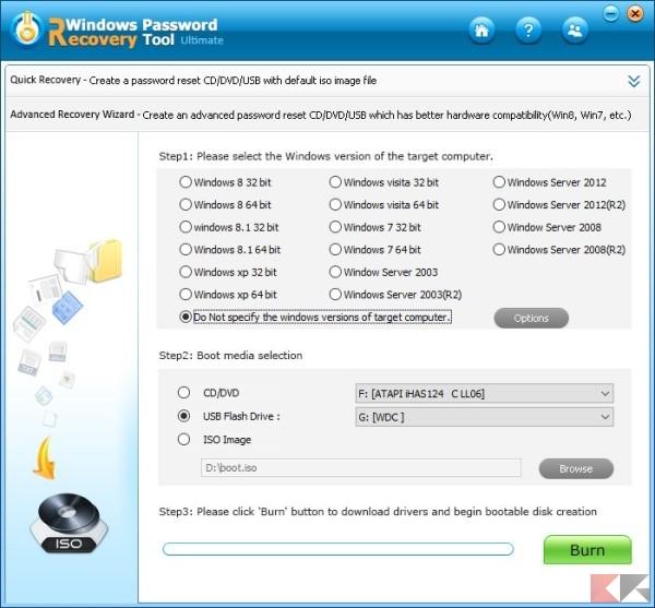 Recuperare la password di Windows