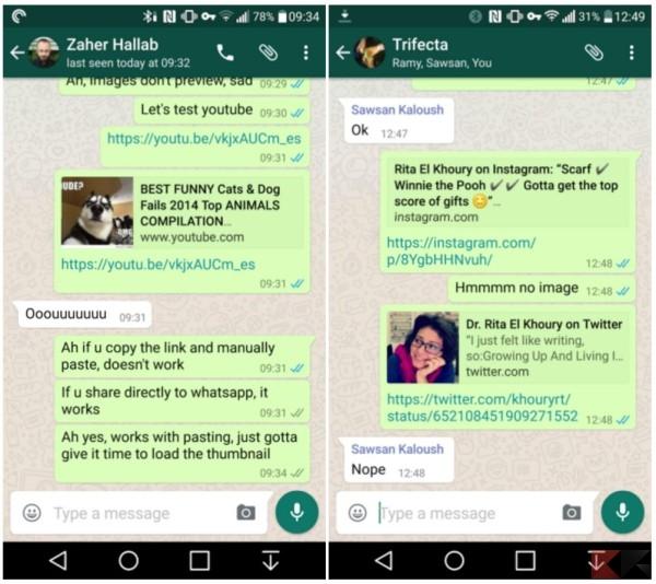 WhatsApp anteprima link