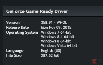 NVIDIA GeForce Driver 358.91 WHQL