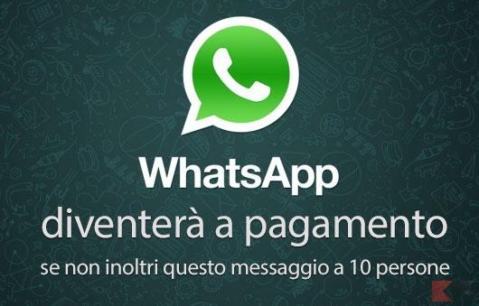 WhatsApp a pagamento