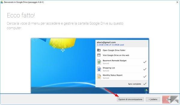 Cambiare cartella di Google Drive