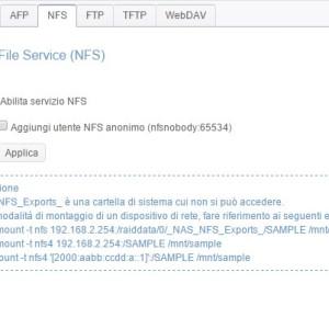 Servizio di file NFS
