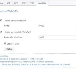 Servizio di file WebDAV
