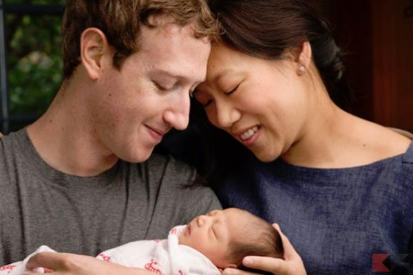 Zuckerberg - figlia e moglie