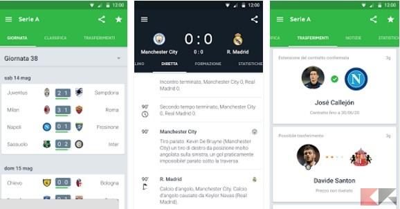 migliori app per dirette calcio: Onefootball