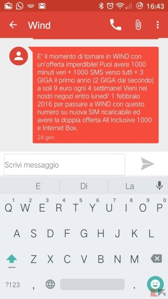 Wind Back - 9euro 1000 minuti 1000 sms 3 GB