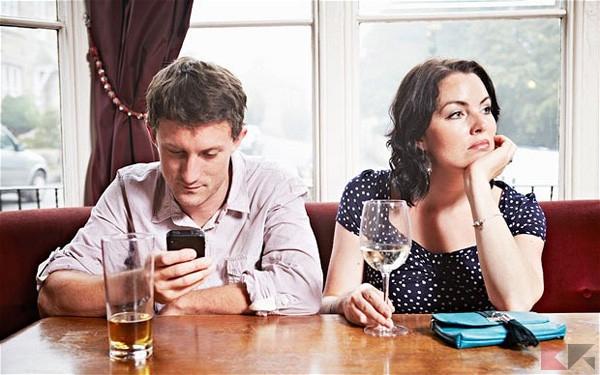 Couple having drinks in bar