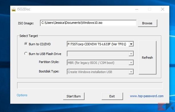Creare chiavetta USB avviabile da ISO