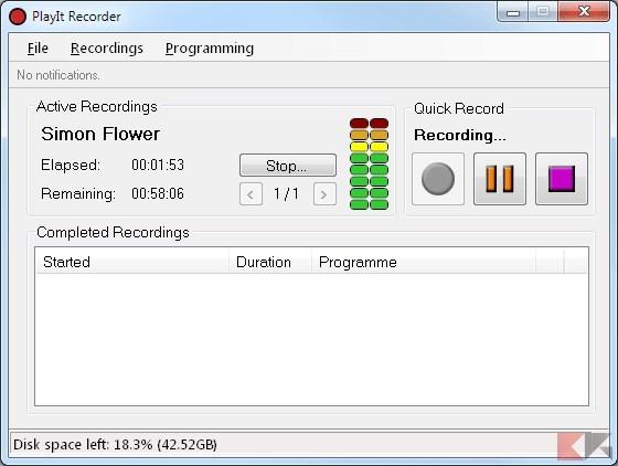 registrare suoni