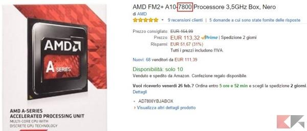 riconoscere i processori AMD