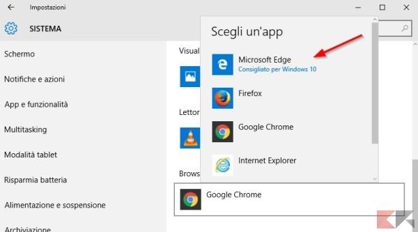 Browser web scelta