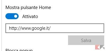 Pulsante Home