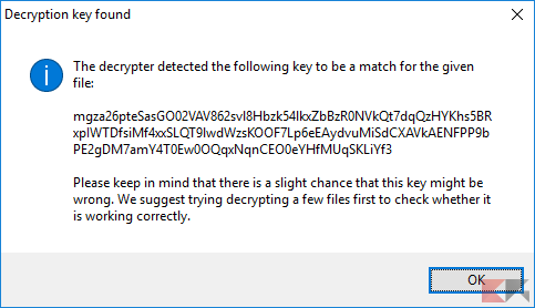 Recuperare dati criptati