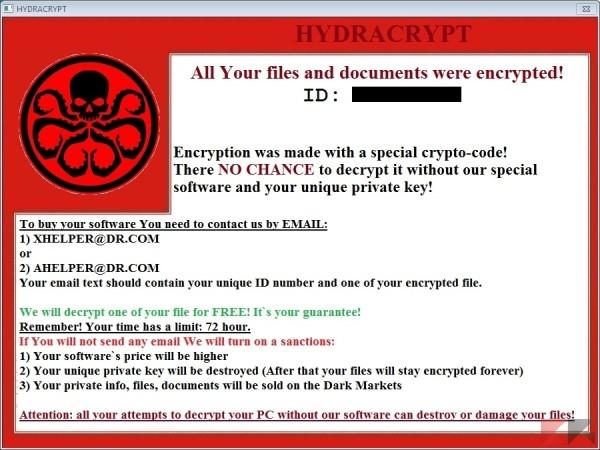 Recuperare dati criptati - Hydracrypt