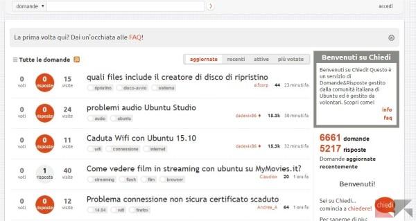 Chiedi ubuntu