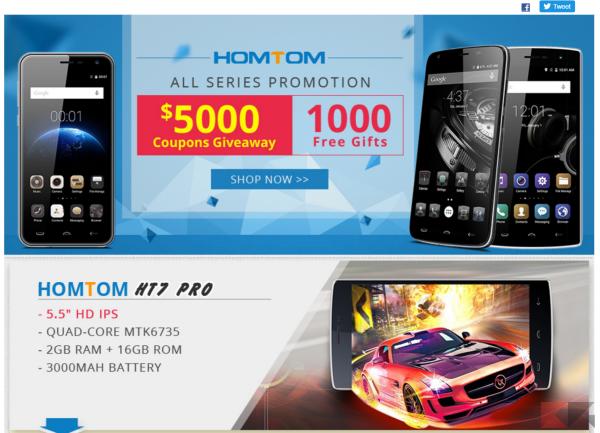 HOMTOM HT7 Pro - promozione Tinydeal