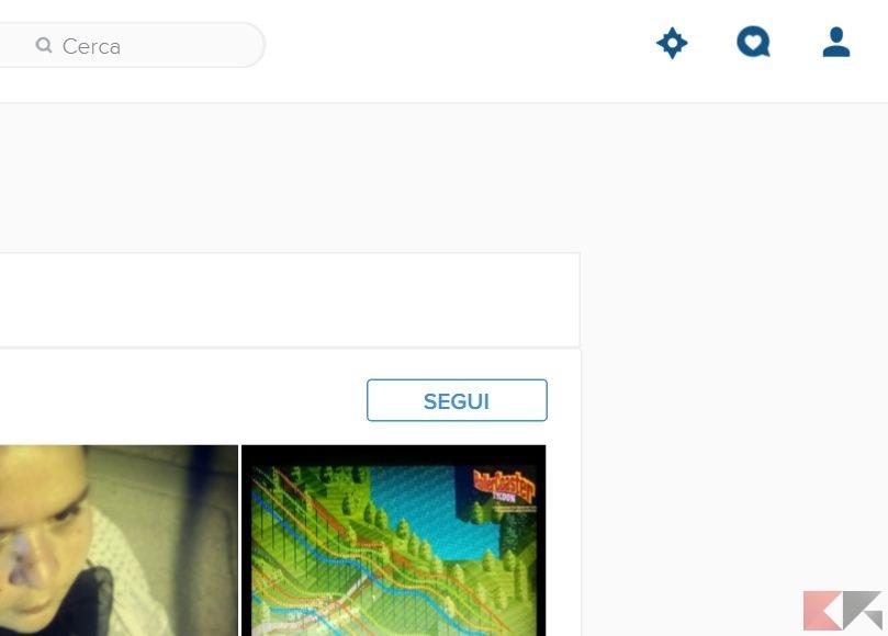 Instagram Web Pulsanti Esplora e Notifiche