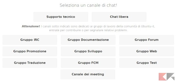 La chat di Ubuntu-it