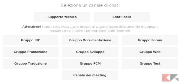 La chat di Ubuntu-it