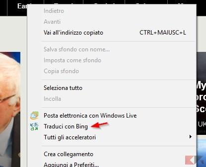 Traduci con Bing