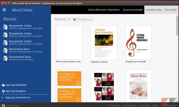Word online app ubuntu