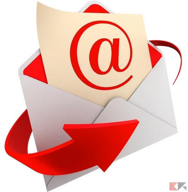 inviare link via email
