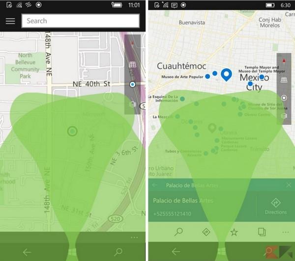 Mappe per smartphone: prima (sinistra) ed ora (destra)
