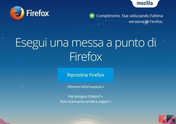 Ripristinare Firefox