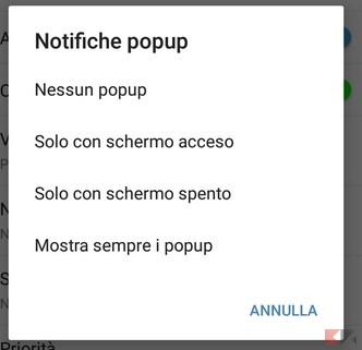 notifiche popup
